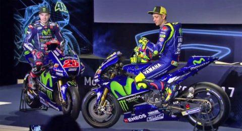 Rossi Vinales presentazione Yamaha M1 2017