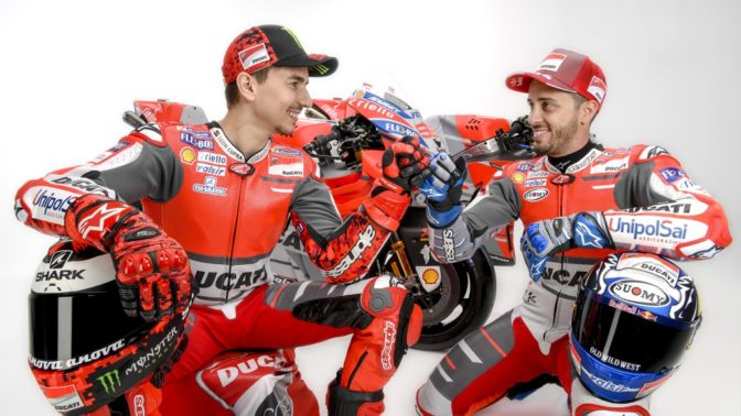 andrea dovizioso e jorge lorenzo - ducati team motogp 2018