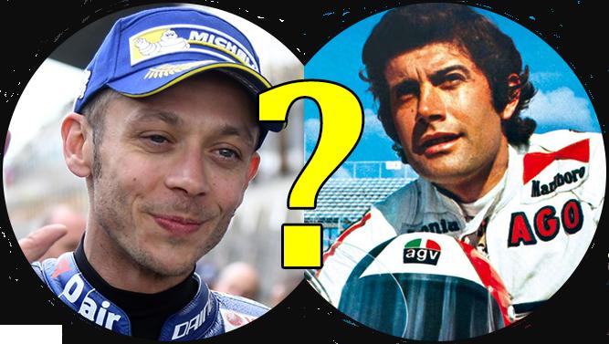 Pronostici MotoGP-Sfida Valentino Rossi contro Giacomo Agostini