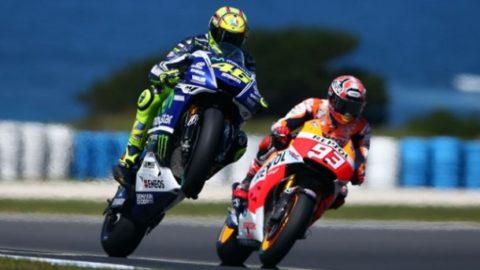 Rossi contro Marquez nel gran premio delle americhe